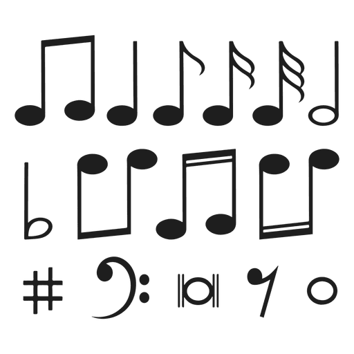 Music notes Transparent PNG