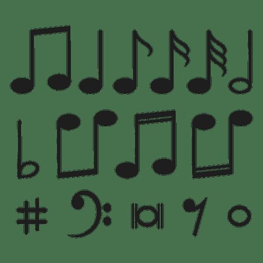 Notas musicais Transparent PNG