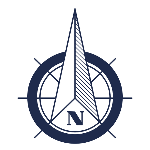 Nautical north arrow ubication