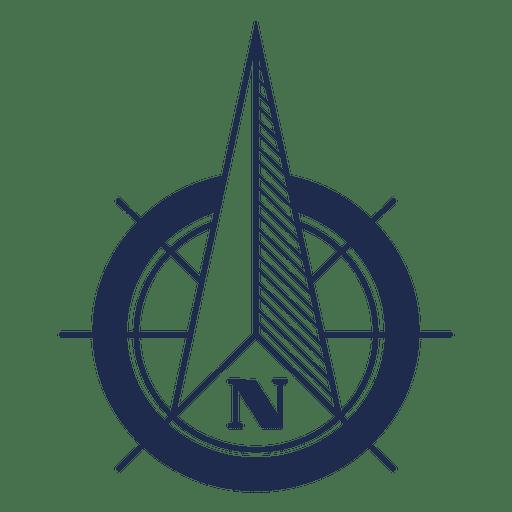 Ubicación de la flecha norte náutica