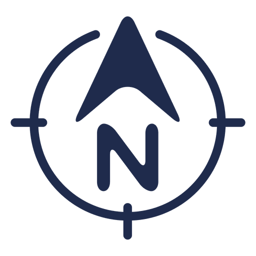 North arrow ubication