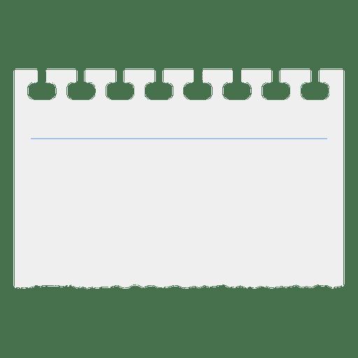 Cuaderno de papel rasgado Transparent PNG