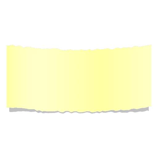 Banner de papel rasgado amarillo realista Transparent PNG