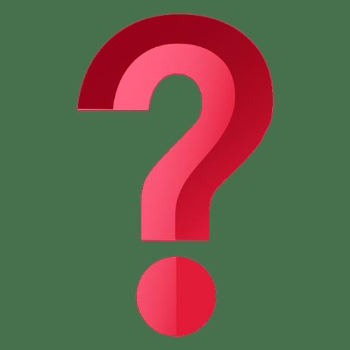 Signo de interrogación rojo 3d Transparent PNG
