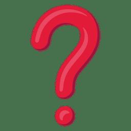 Ícone de ponto de interrogação 3d vermelho