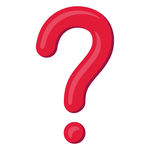 Red 3d question mark icon Transparent PNG