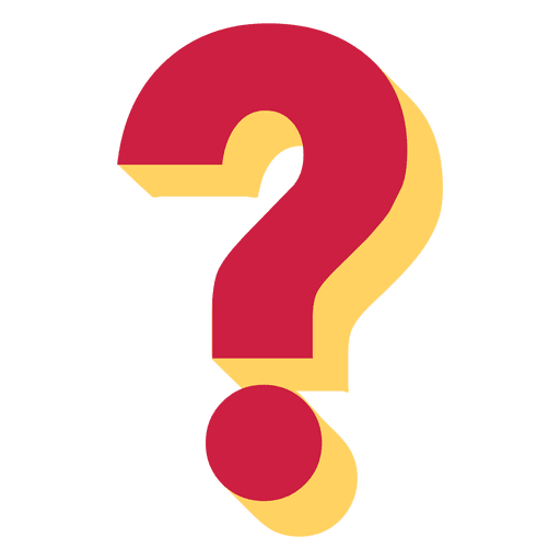 Red and yellow 3d question mark