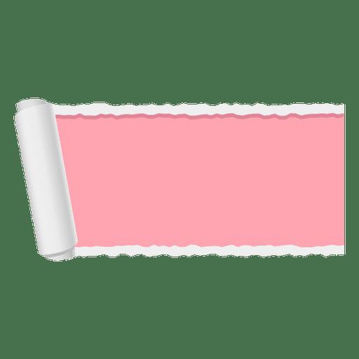 Banner de papel rasgado rojo Transparent PNG