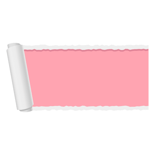 Red ripped paper banner Transparent PNG