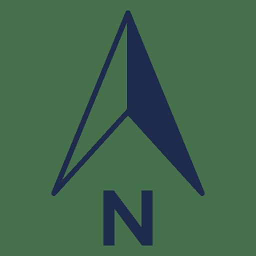 Simples seta norte da ubicação Transparent PNG