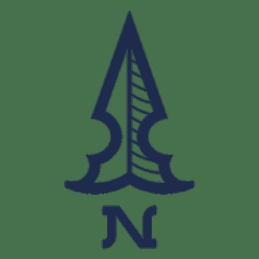 Vintage North Arrow Ubication Transparent PNG