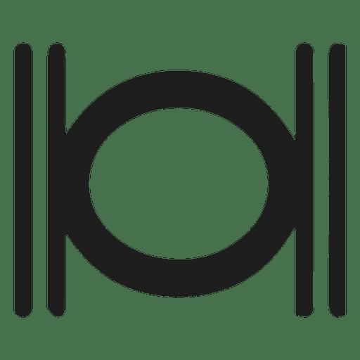 Desenho de sinal musical de notas inteiras Transparent PNG