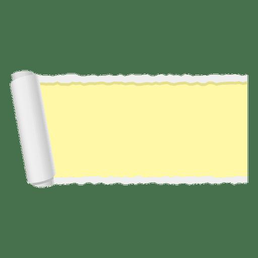 Bandeira de papel rasgado amarelo Transparent PNG