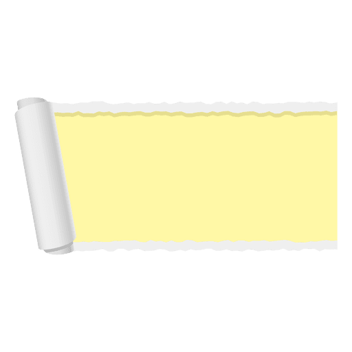 Yellow ripped paper banner Transparent PNG
