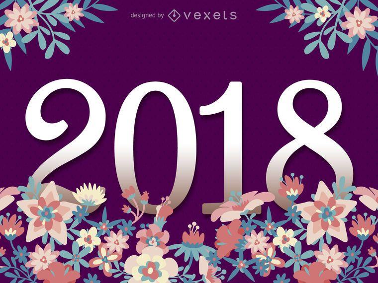 2018 Blumenzeichen