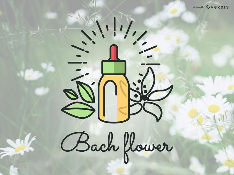 Bach flowers logo badge