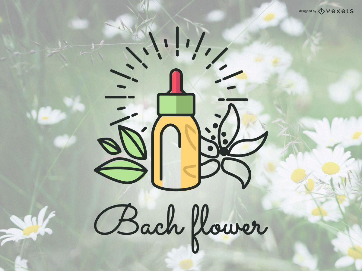 Bach flowers logo badge