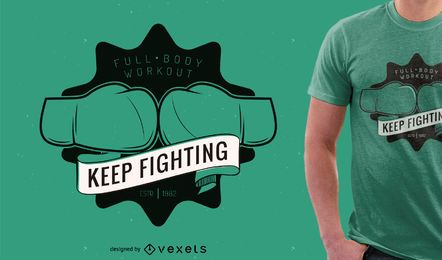 Design de camiseta de boxe ou academia