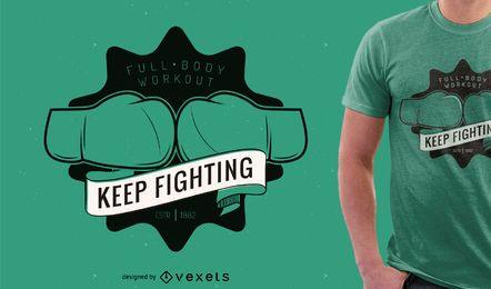 Diseño de camiseta de boxeo o gimnasio