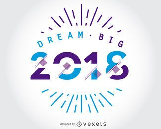Dream Big 2018 diseño