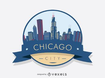 Chicago badge skyline