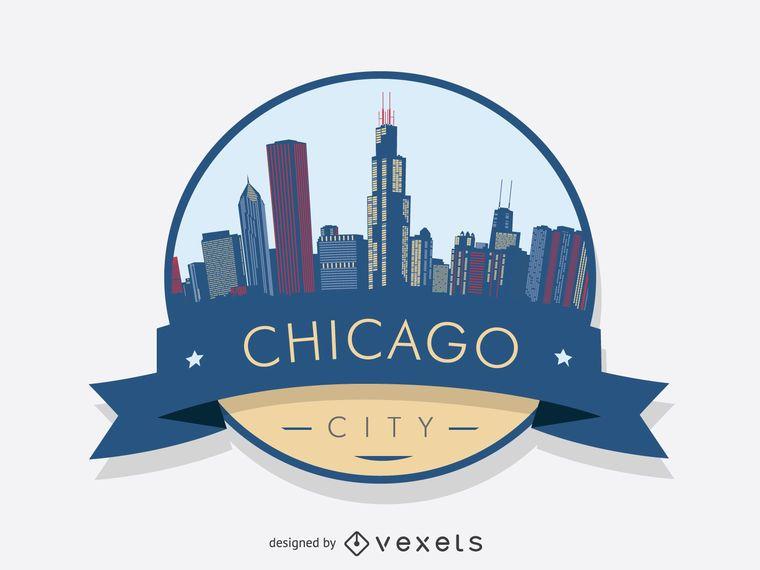 Chicago badge skyline