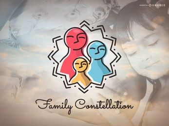 Diseño de logo de constelación familiar