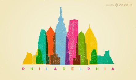Colorido horizonte de Filadelfia
