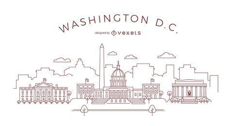 Strichskyline von Washington DC