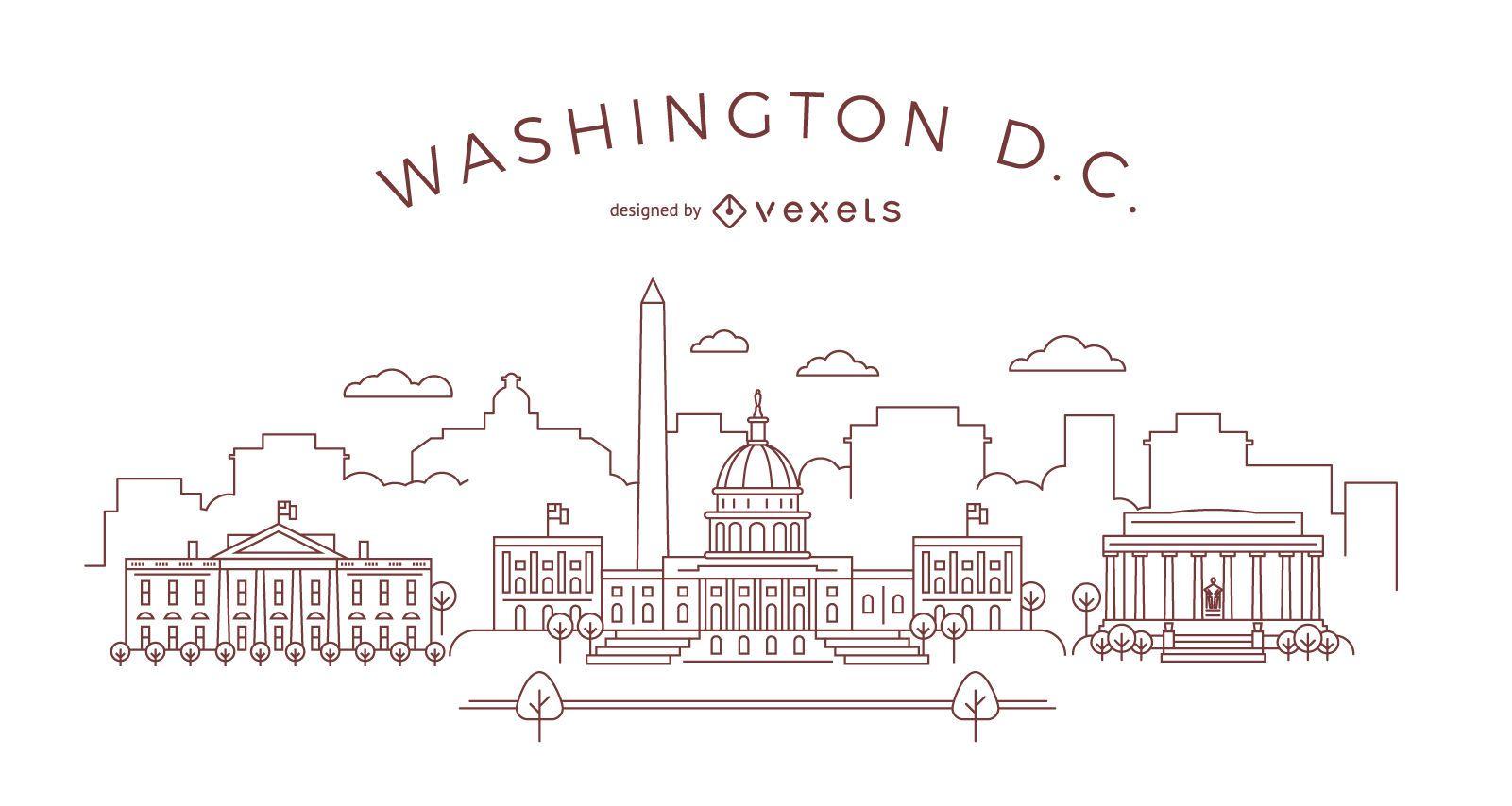 Horizonte de trazo de Washington DC