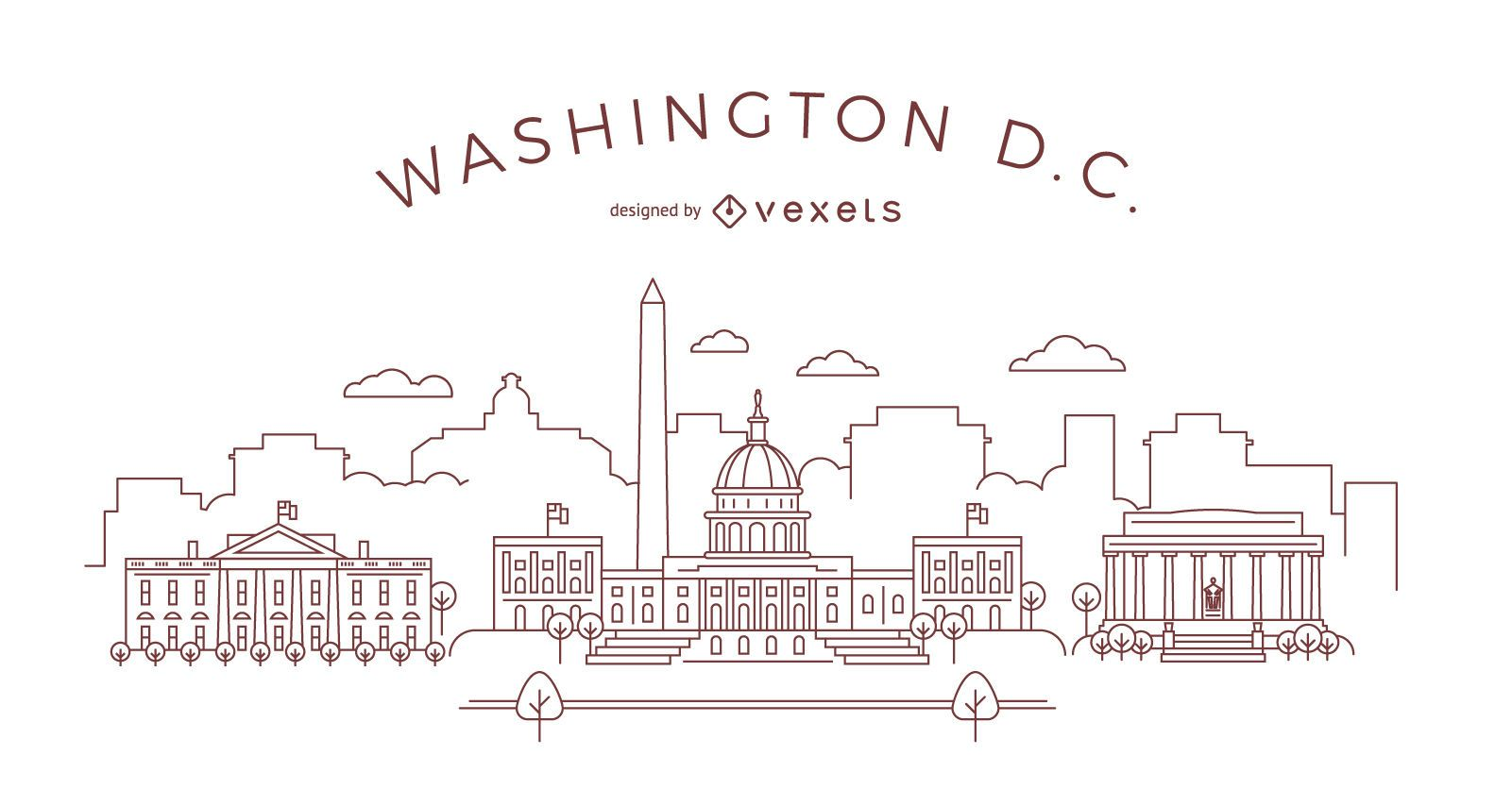 Washington DC stroke skyline