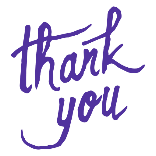 Thank You Lettering Transparent Png Svg Vector