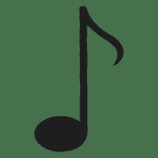 Aislado ocho notas