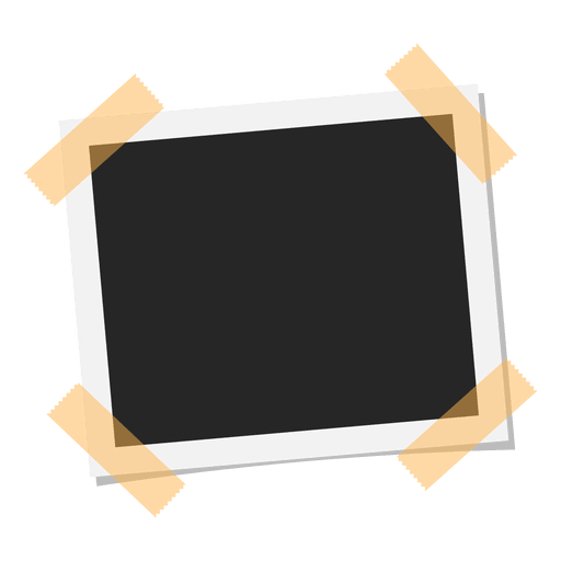 Taped polaroid photo - Transparent PNG & SVG vector
