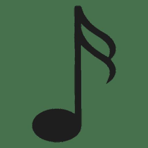 Ilustração da silhueta da décima sexta nota Transparent PNG