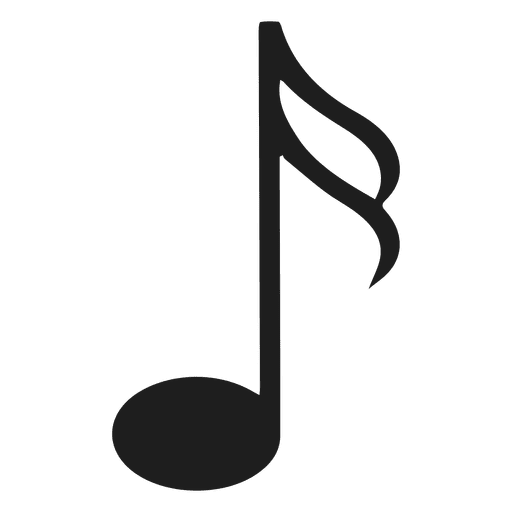 Sixteenth note silhouette illustration