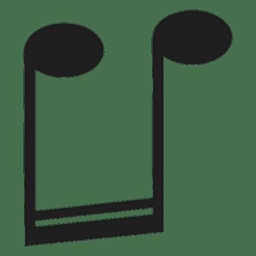 Semicolcheia de cabeça para baixo Transparent PNG