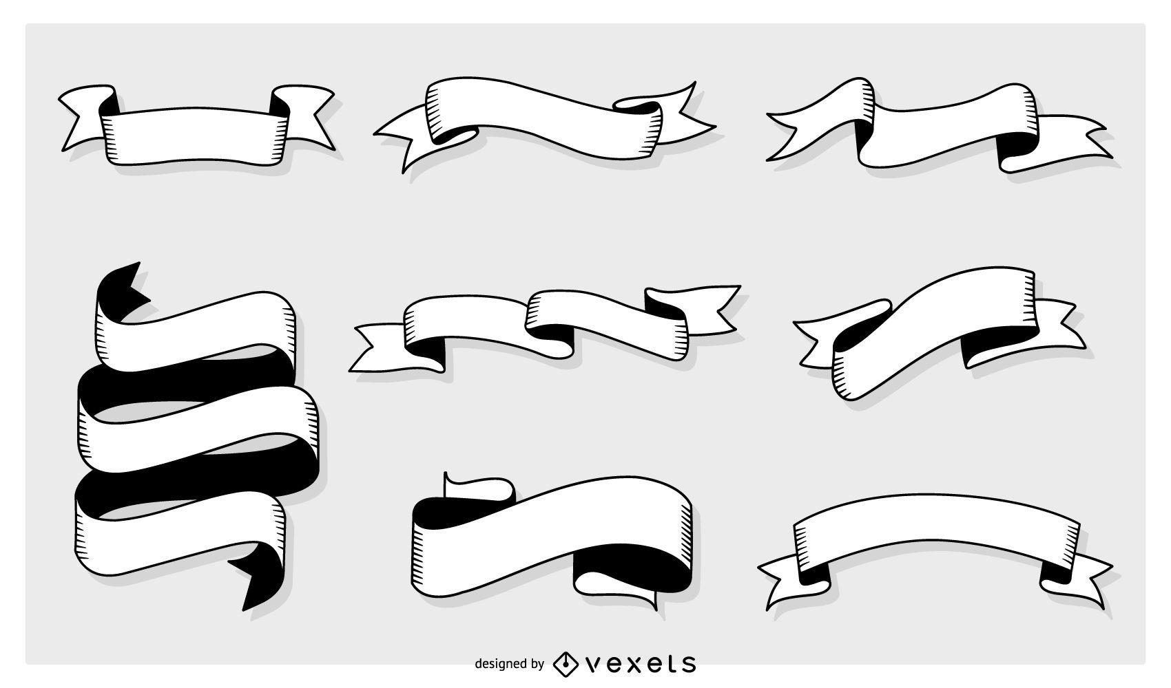 Conjunto de Banners vectoriales genéricos