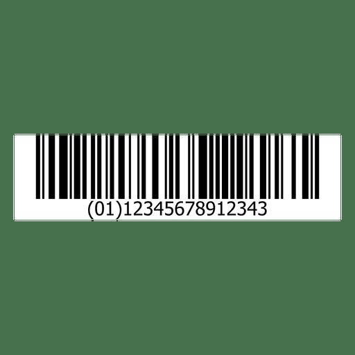 Ilustración de código de barras Transparent PNG