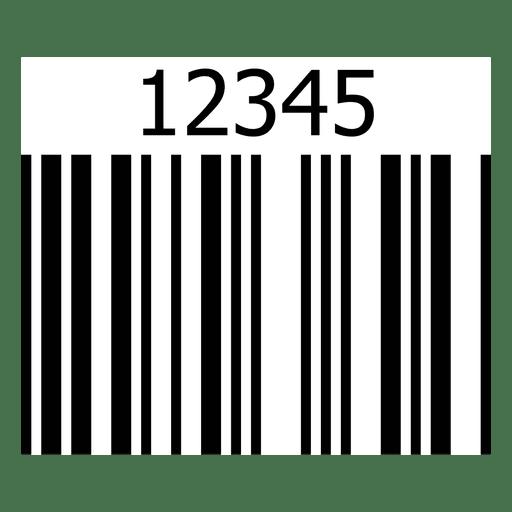 Bar code illustration numbers Transparent PNG