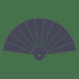 Abanico japonés sensu negro