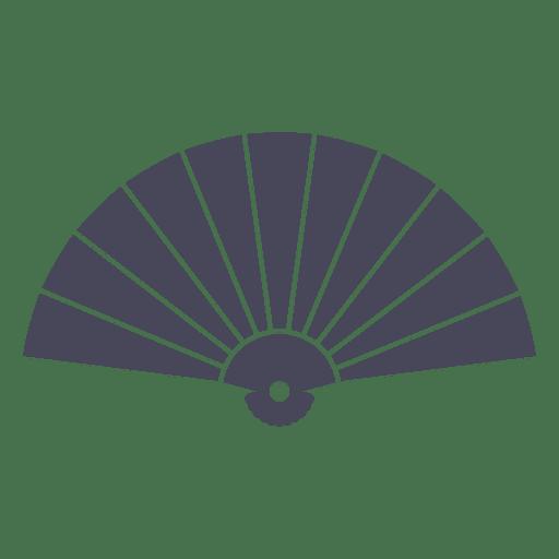 Black sensu japanese fan - Transparent PNG & SVG vector
