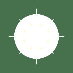 Reflexo de lente circular