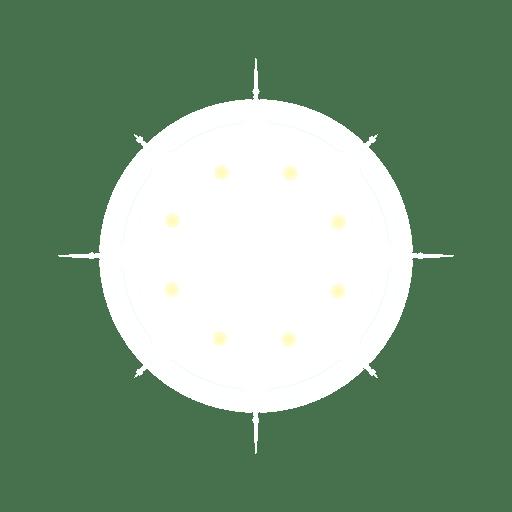 Circular lens flare Transparent PNG