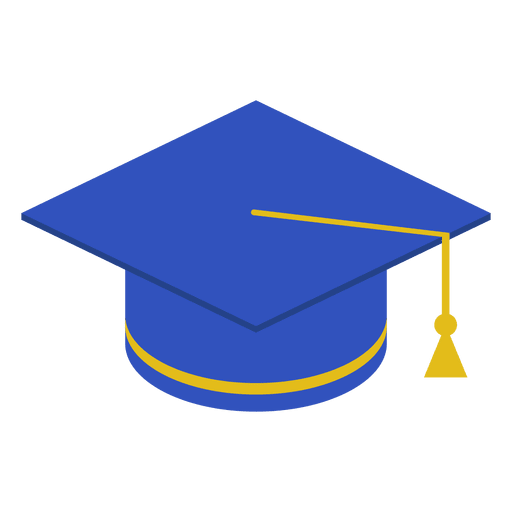 Graduation cap blue Transparent PNG