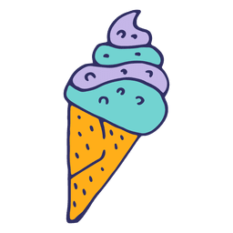Ice cream cartoon illustration