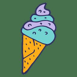 Ilustração de desenho animado de sorvete