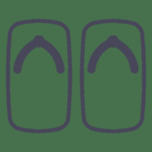 Japan flip flops Transparent PNG