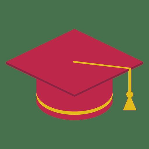 Gorro de graduación rojo