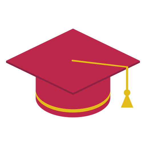 Red graduation cap Transparent PNG